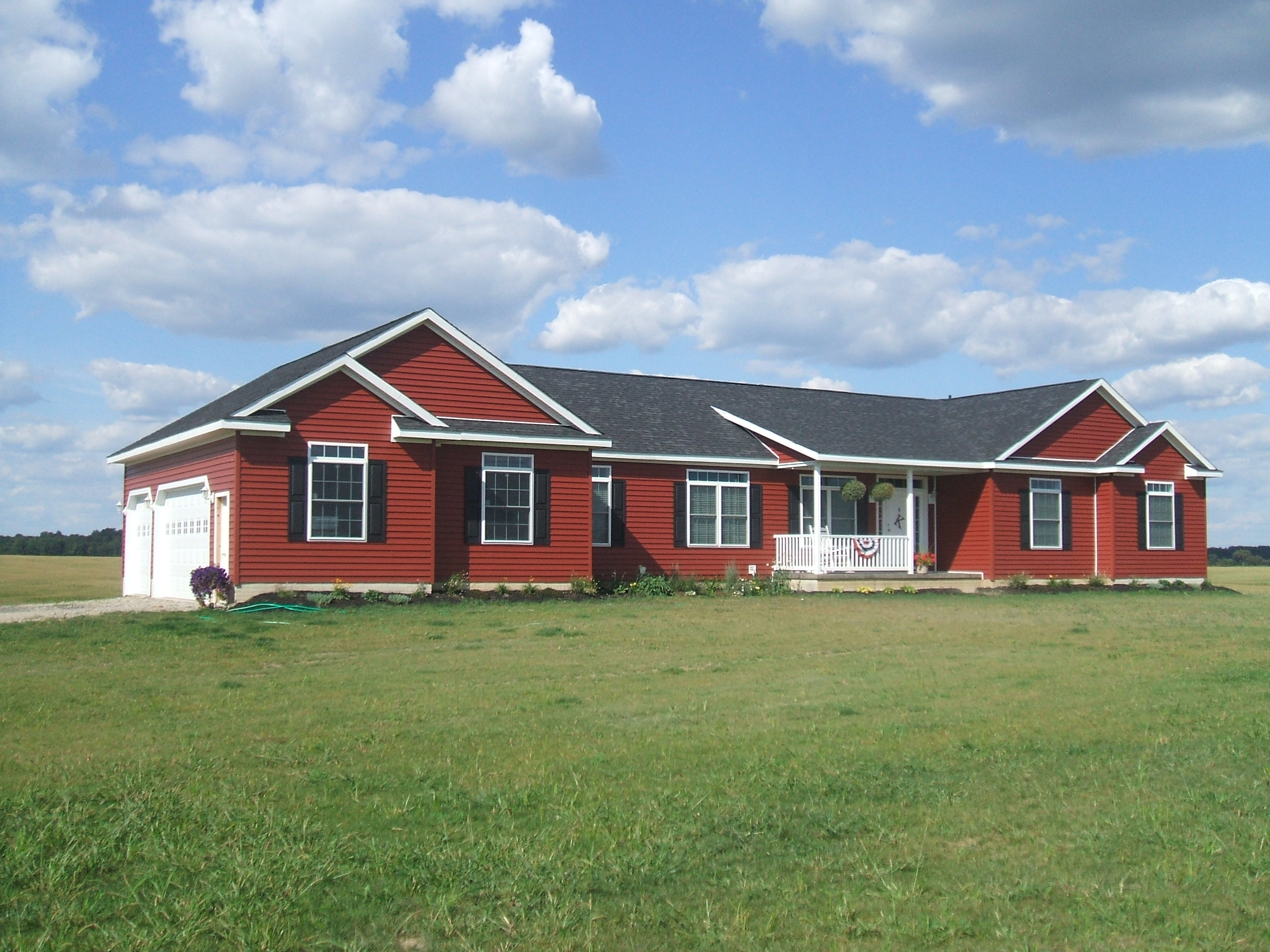 Can i build a modular home using the va loan legendary for Red barn prefab