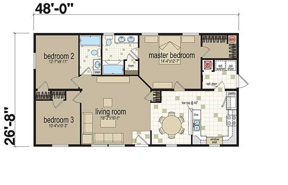 Creating a perfect floor plan for hud code home legendary homes inc definition of floor plan and blueprint malvernweather Images